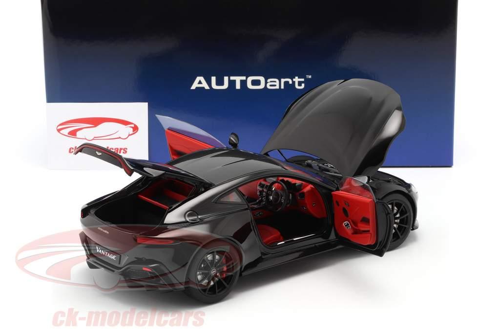 Aston Martin Vantage year 2019 black 1:18 AUTOart