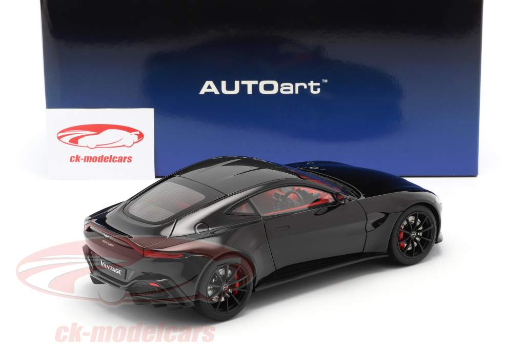 Aston Martin Vantage Año de construcción 2019 negro 1:18 AUTOart