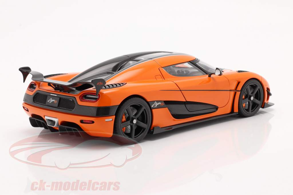 Koenigsegg Agera RS Byggeår 2015 orange / kulstof 1:18 AUTOart