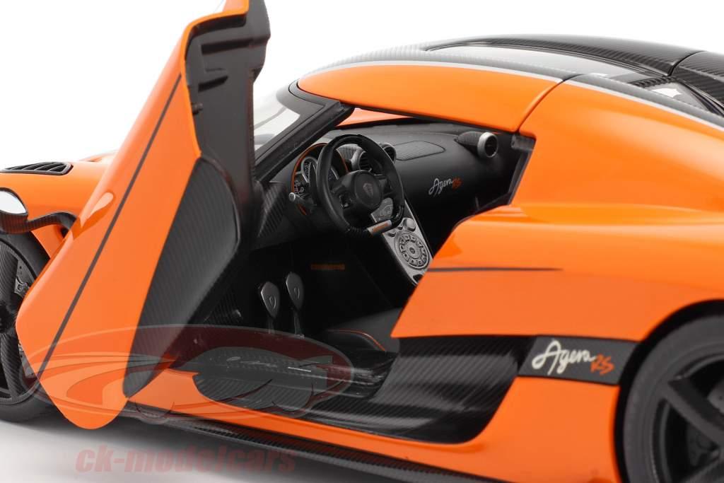 Koenigsegg Agera RS Ano de construção 2015 laranja / carbono 1:18 AUTOart