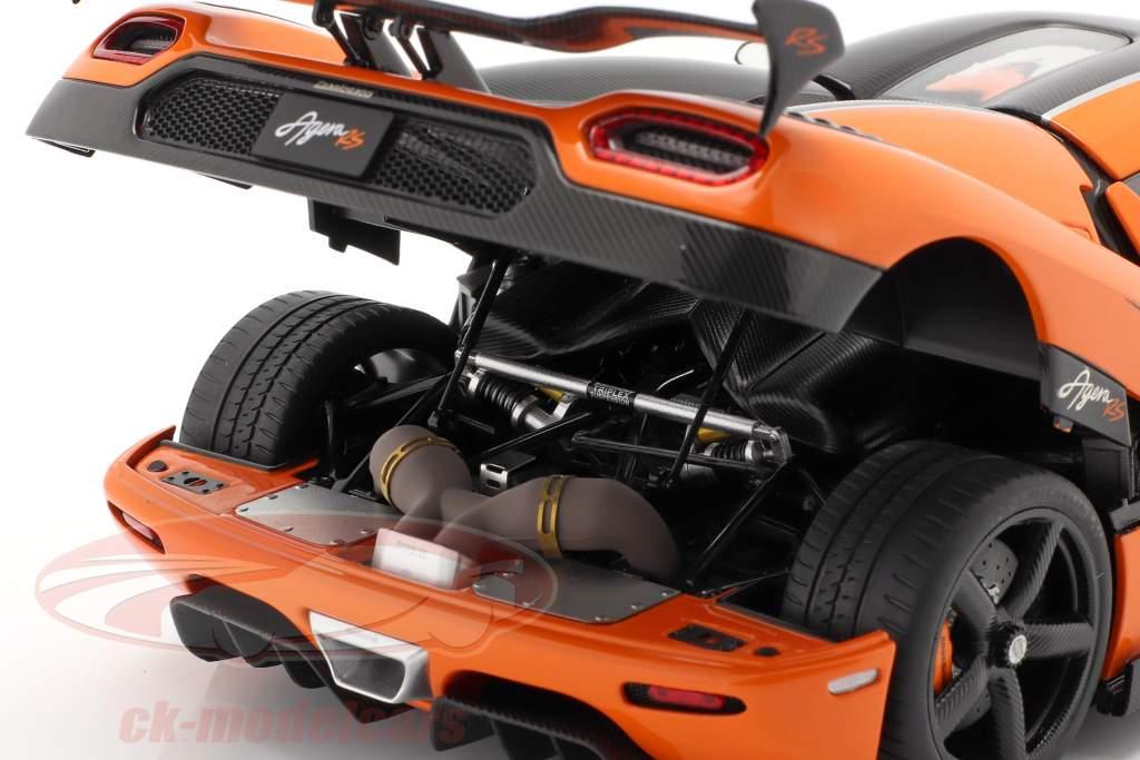 Koenigsegg Agera RS Bouwjaar 2015 oranje / koolstof 1:18 AUTOart