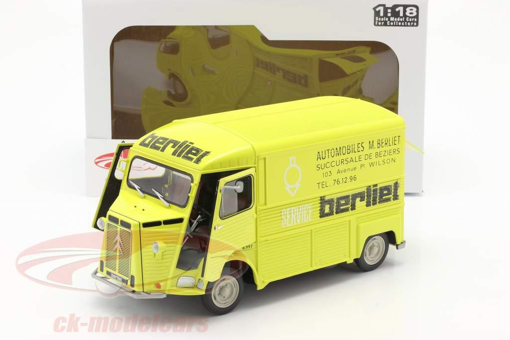 Citroen Type H Berliet Service Año de construcción 1969 amarillo 1:18 Solido