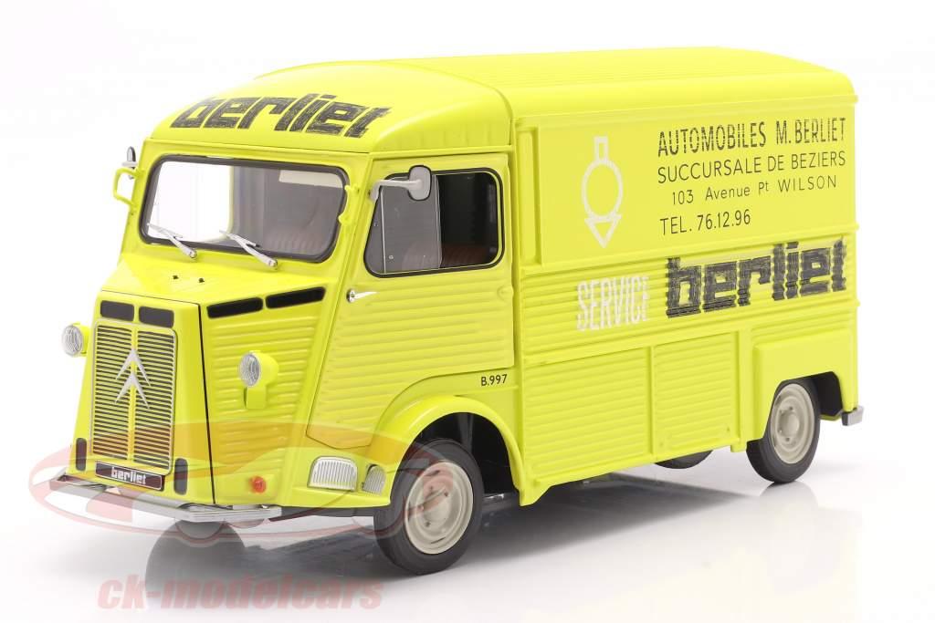 Citroen Type H Berliet Service year 1969 yellow 1:18 Solido