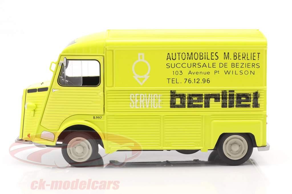 Citroen Type H Berliet Service Année de construction 1969 jaune 1:18 Solido