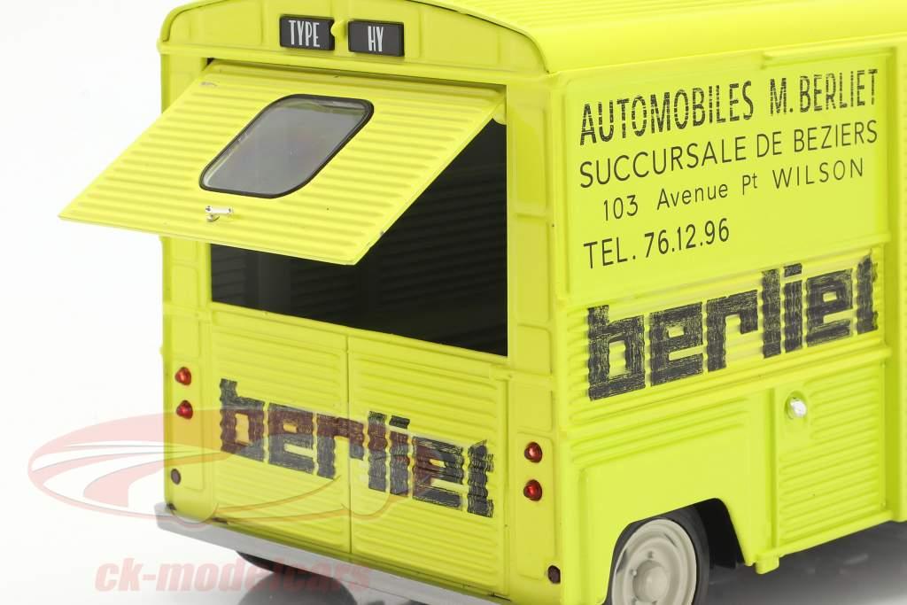 Citroen Type H Berliet Service Bouwjaar 1969 geel 1:18 Solido