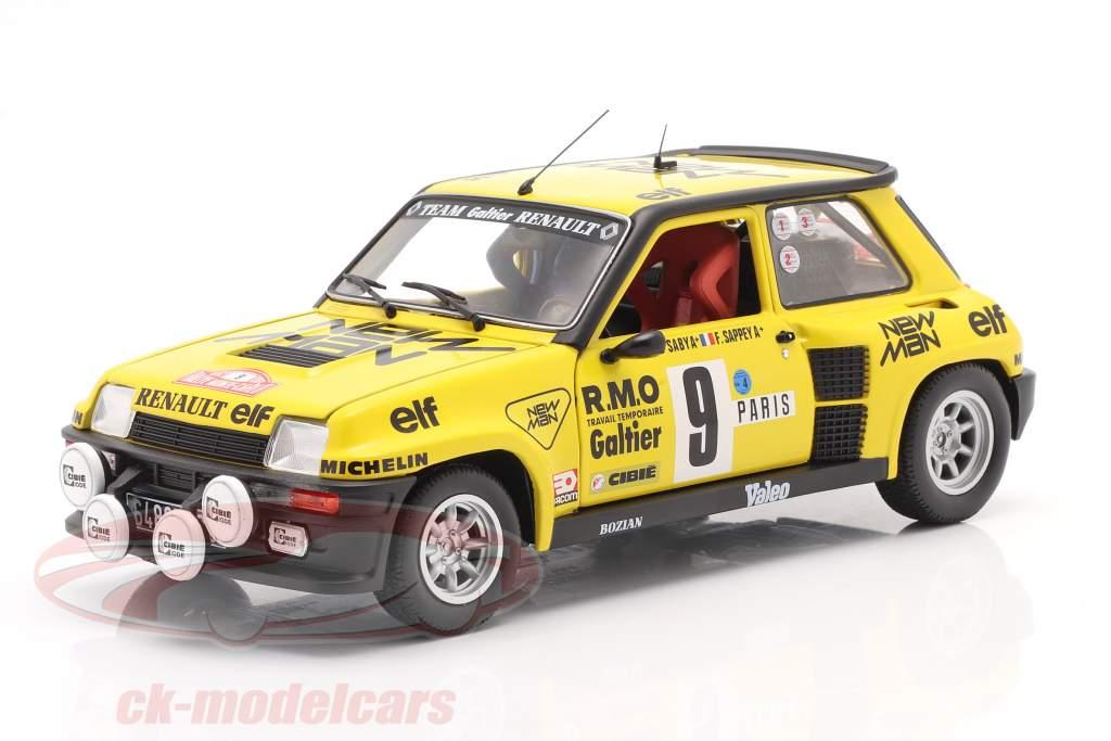 Renault 5 Turbo #9 5e Rallye Monte Carlo 1982 Saby, Sappey 1:18 Solido