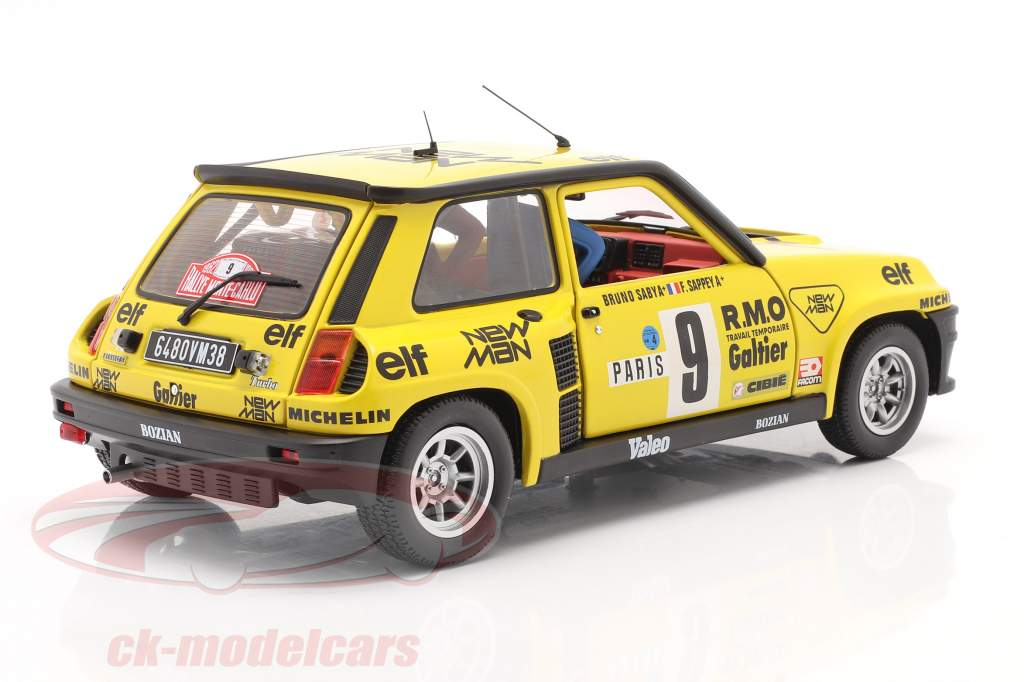 Renault 5 Turbo #9 5. plads Rallye Monte Carlo 1982 Saby, Sappey 1:18 Solido