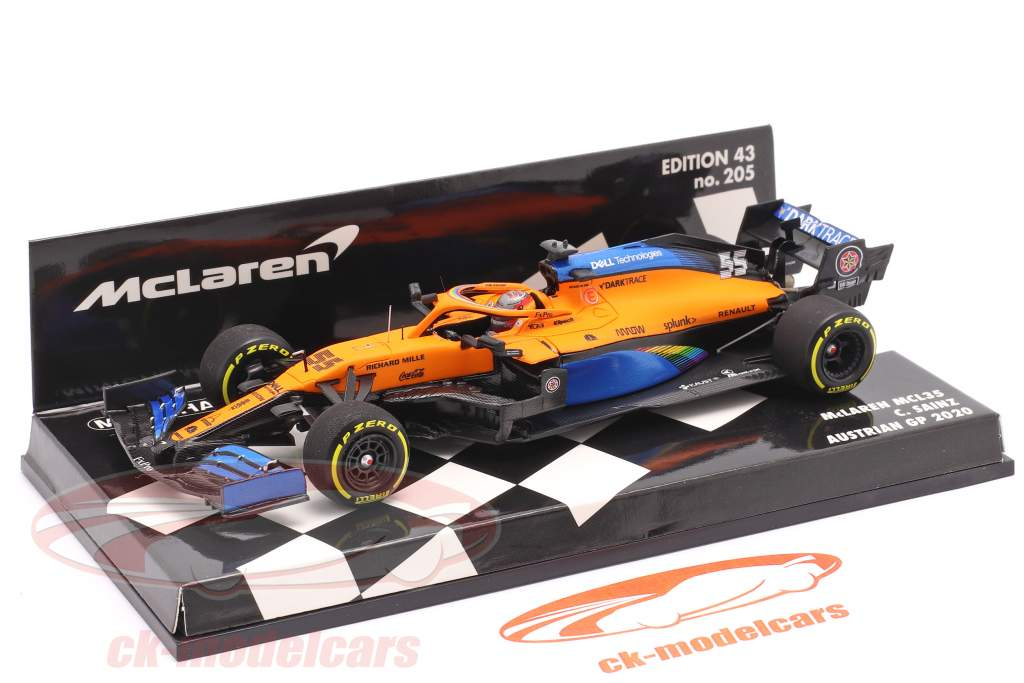 C. Sainz jr. McLaren MCL35 #55 Quinto austriaco GP fórmula 1 2020 1:43 Minichamps