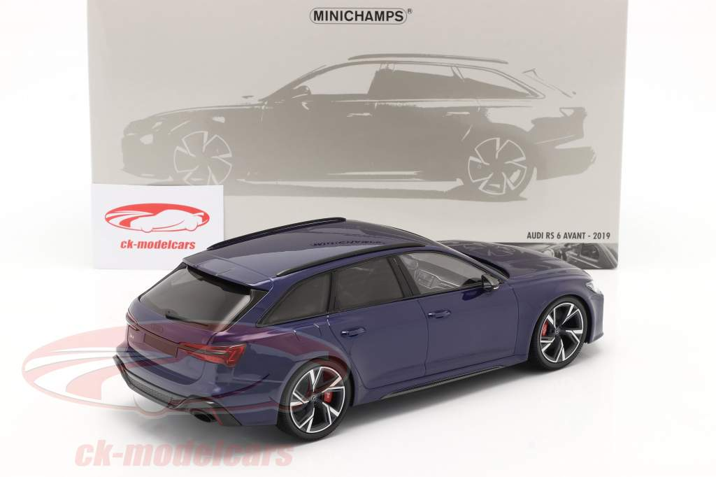 Audi RS 6 Avant (C8) Année de construction 2019 bleu métallique 1:18 Minichamps