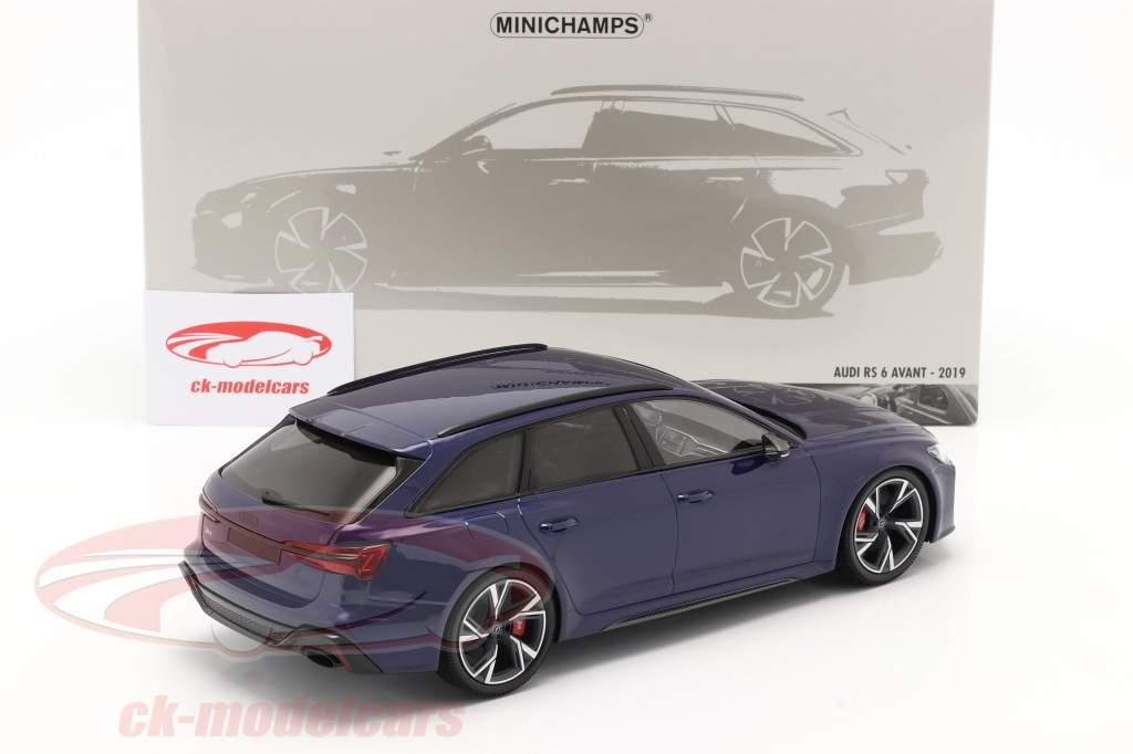 Audi RS 6 Avant (C8) Anno di costruzione 2019 blu metallico 1:18 Minichamps