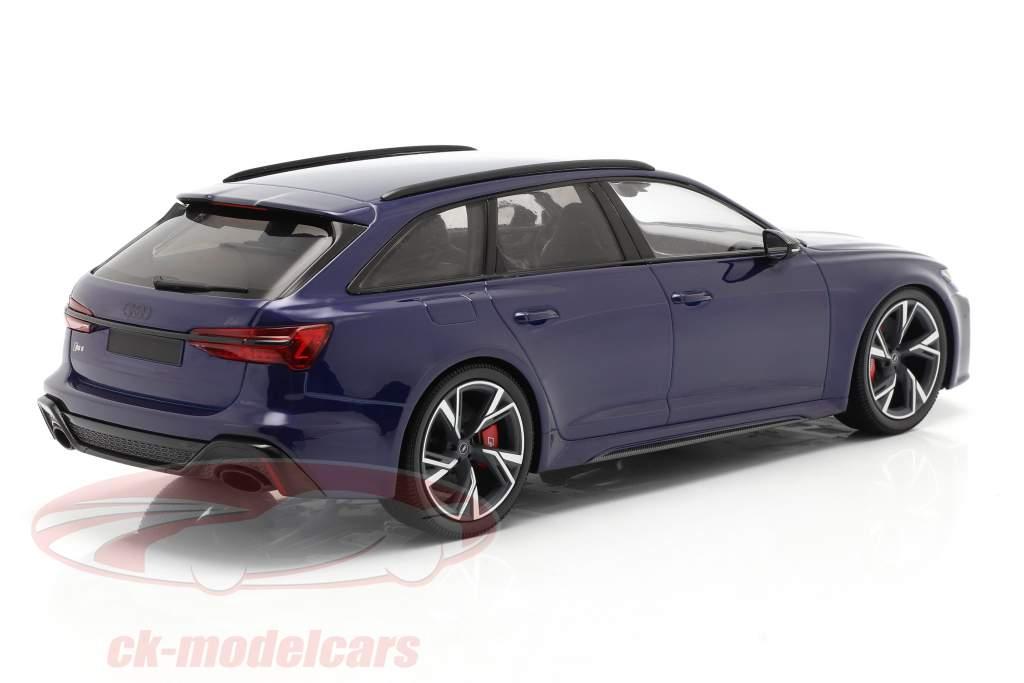 Audi RS 6 Avant (C8) Baujahr 2019 blau metallic 1:18 Minichamps