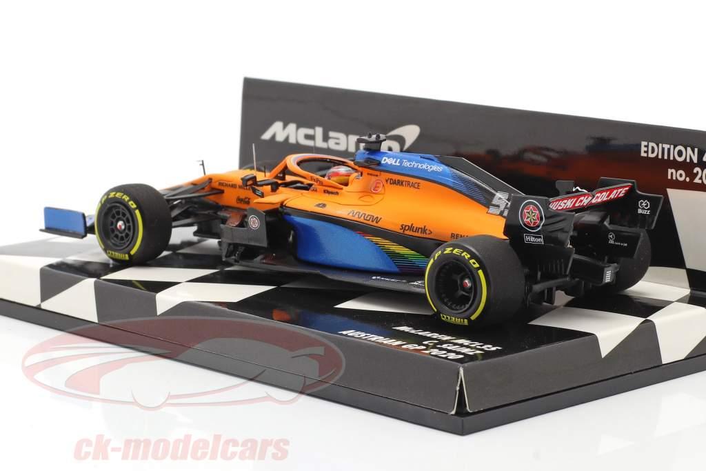 C. Sainz jr. McLaren MCL35 #55 5e Oostenrijks GP formule 1 2020 1:43 Minichamps