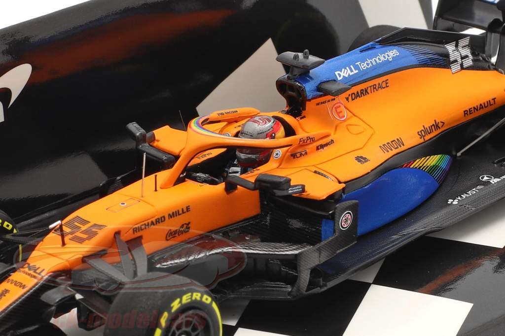 C. Sainz jr. McLaren MCL35 #55 5. plads Østrigsk GP formel 1 2020 1:43 Minichamps