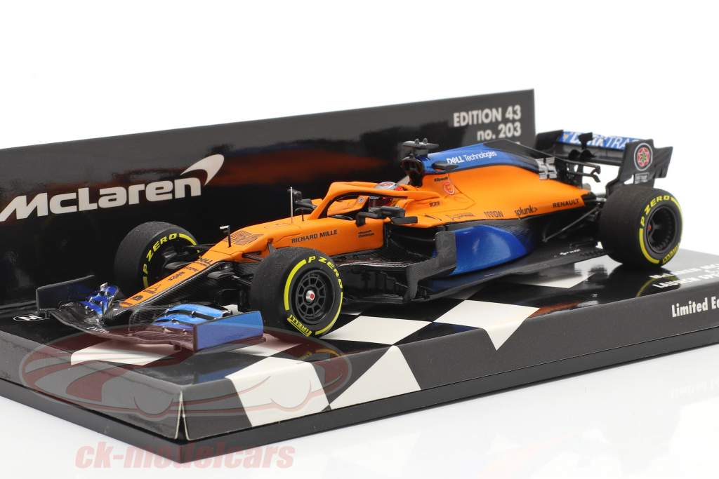 Carlos Sainz jr. McLaren MCL35 #55 Launch Spec formule 1 2020 1:43 Minichamps