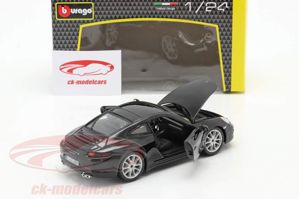 Porsche 911 (991) Carrera S Bouwjaar 2013 zwart 1:24 Bburago
