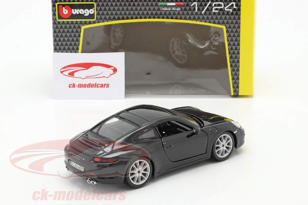Porsche 911 (991) Carrera S Byggeår 2013 sort 1:24 Bburago