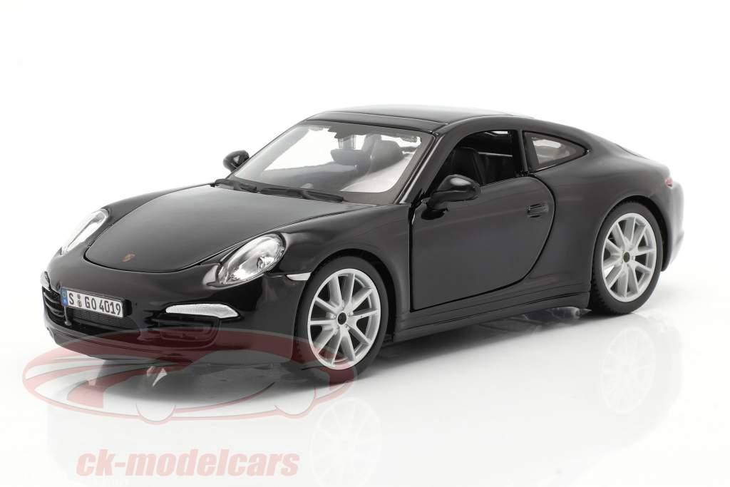 Porsche 911 (991) Carrera S Ano de construção 2013 Preto 1:24 Bburago