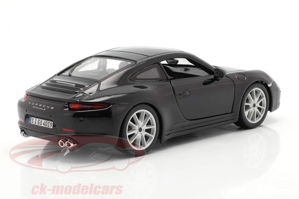 Porsche 911 (991) Carrera S year 2013 black 1:24 Bburago