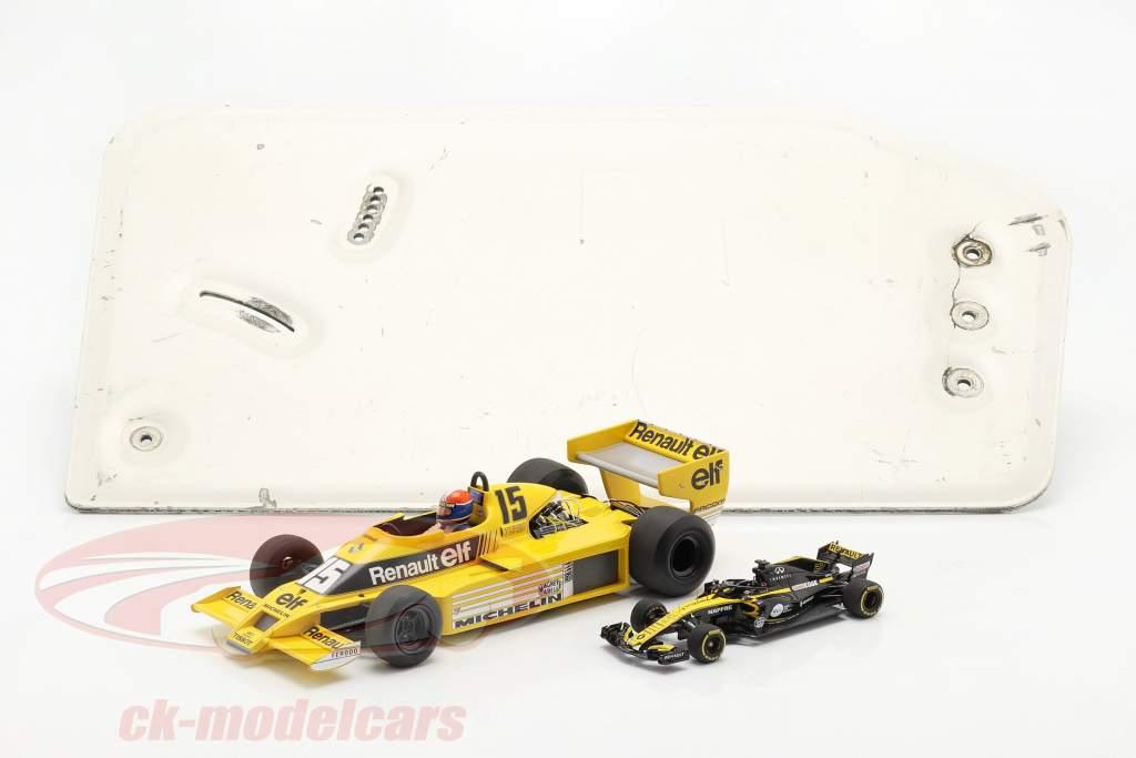 original L'aile arrière Plaque d'extrémité formule Renault 2.0 / ca. 26 x 48 cm