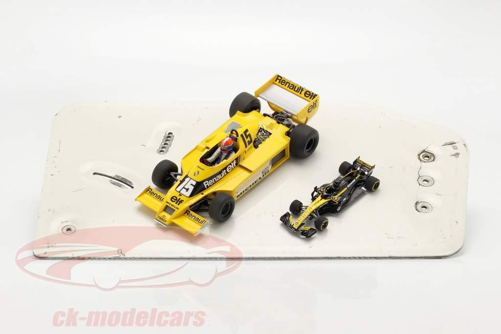 original Ala trasera Placa final fórmula Renault 2.0 / ca. 26 x 48 cm