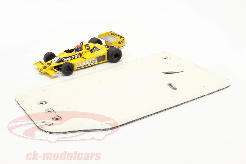 original Asa traseira Placa final Fórmula Renault 2.0 / ca. 26 x 48 cm