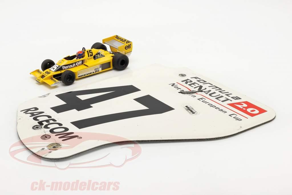 origineel Achtervleugel Eindplaat #47 formule Renault 2.0 / ca. 36 x 47 cm