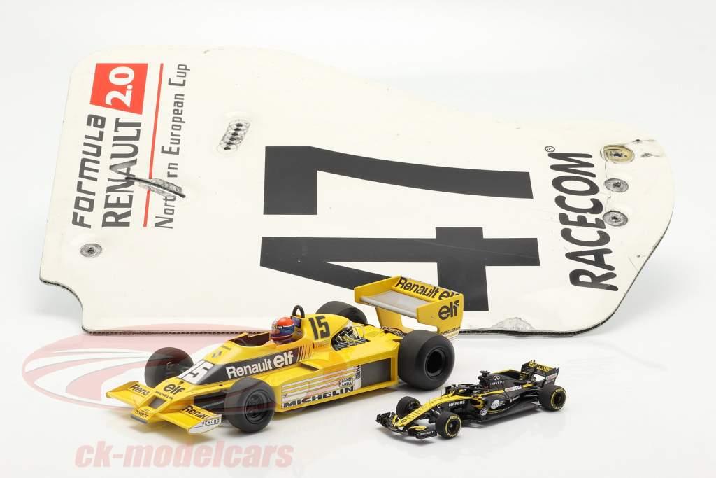 originale Ala posteriore Piastra terminale #47 formula Renault 2.0 / ca. 36 x 47 cm
