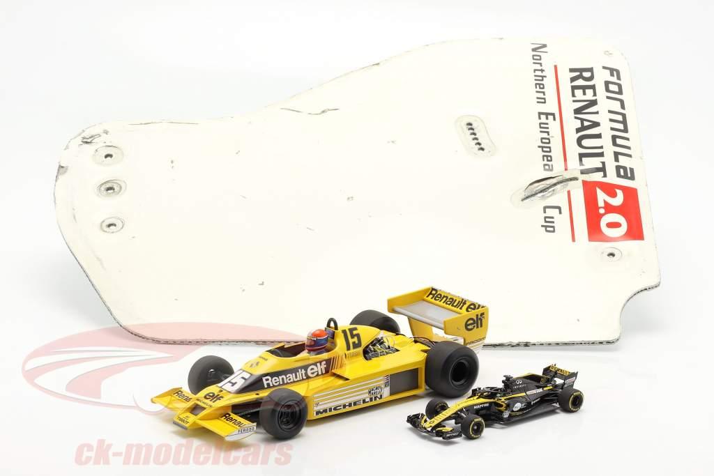 original Ala trasera Placa final fórmula Renault 2.0 / ca. 36 x 47 cm