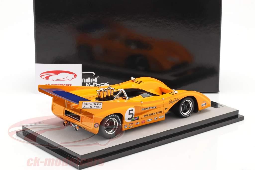 McLaren M8F #5 Ganador Mosport Park Can-Am Series 1971 D. Hulme 1:18 Tecnomodel