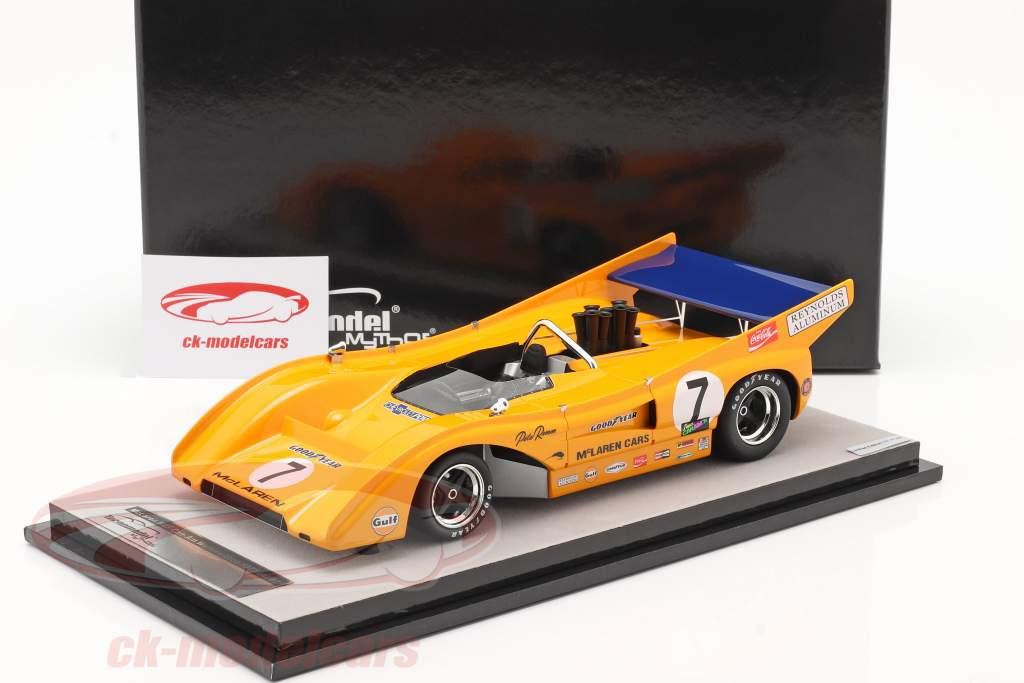 McLaren M8F #7 Vincitore Watkins Glen Can-Am Series 1971 P. Revson 1:18 Tecnomodel