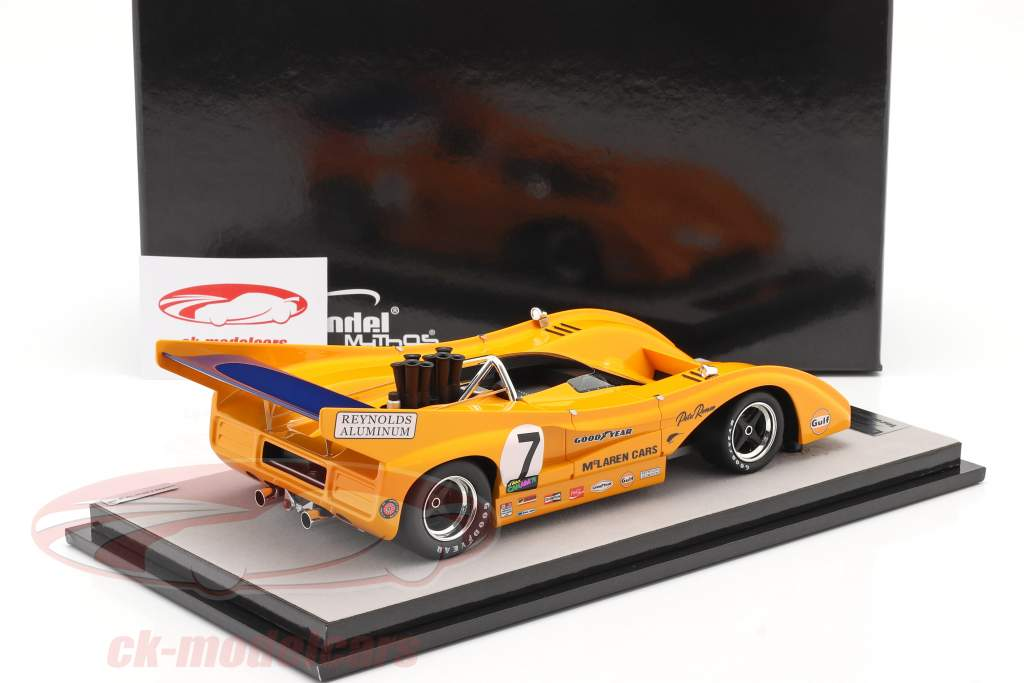 McLaren M8F #7 Winner Watkins Glen Can-Am Series 1971 P. Revson 1:18 Tecnomodel