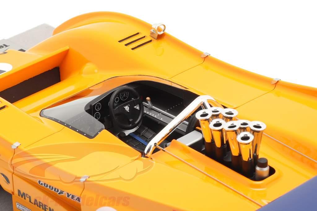 McLaren M8F #5 Winnaar Mosport Park Can-Am Series 1971 D. Hulme 1:18 Tecnomodel