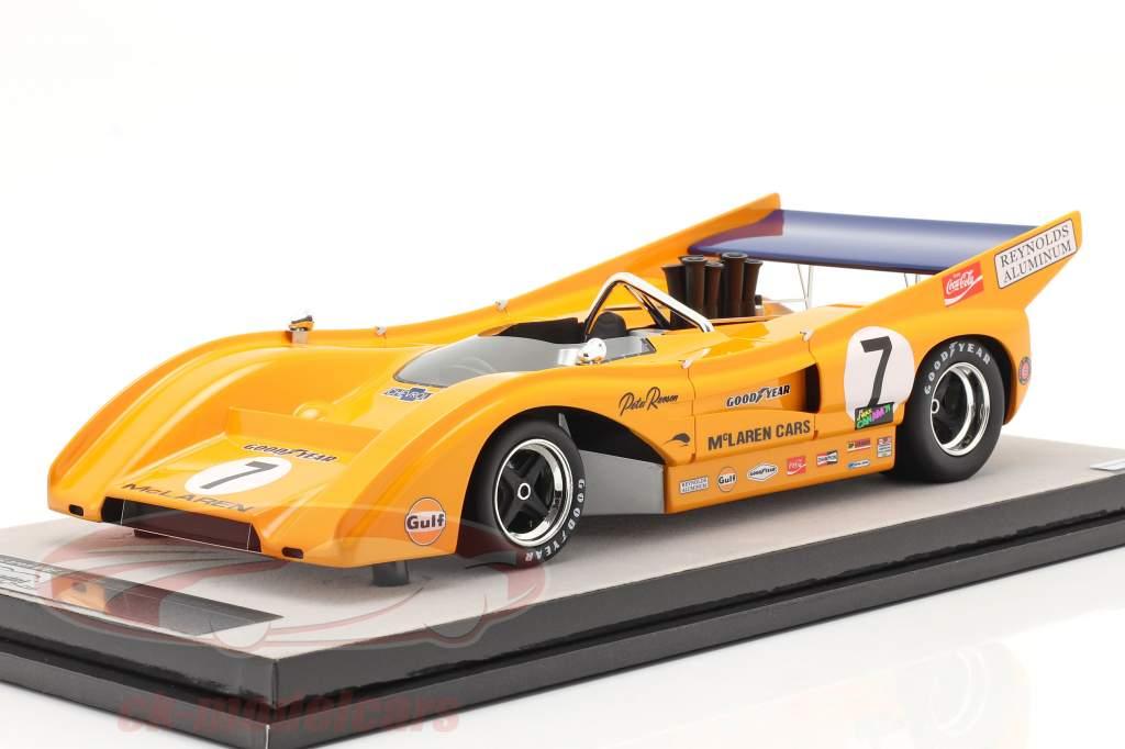 McLaren M8F #7 Ganador Watkins Glen Can-Am Series 1971 P. Revson 1:18 Tecnomodel