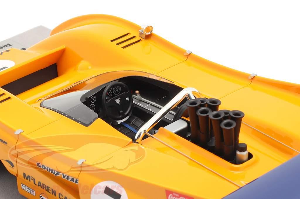 McLaren M8F #7 Winnaar Watkins Glen Can-Am Series 1971 P. Revson 1:18 Tecnomodel