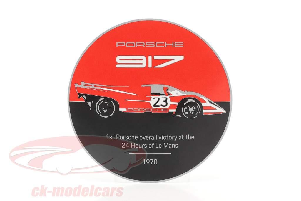 Plaque radiator grill Porsche 917K Salzburg #23 winner 24h LeMans 1970
