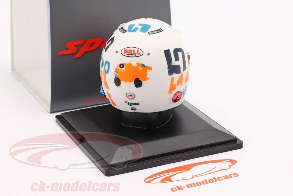 Lando Norris McLaren F1 Team #4 5. plads Britisk GP formel 1 2020 hjelm 1:5 Spark