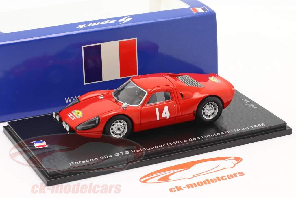 Porsche 904 Carrera GTS #14 Vencedora Rallye des Routes du Nord 1965 1:43 Spark