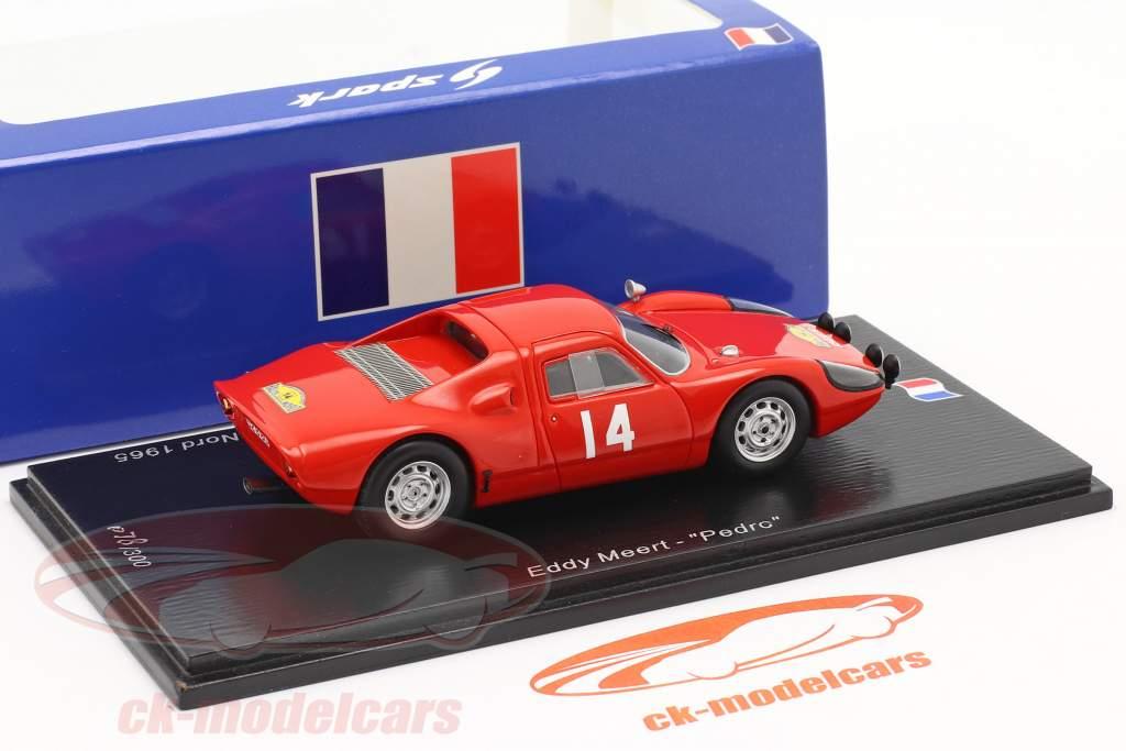 Porsche 904 Carrera GTS #14 Winnaar Rallye des Routes du Nord 1965 1:43 Spark