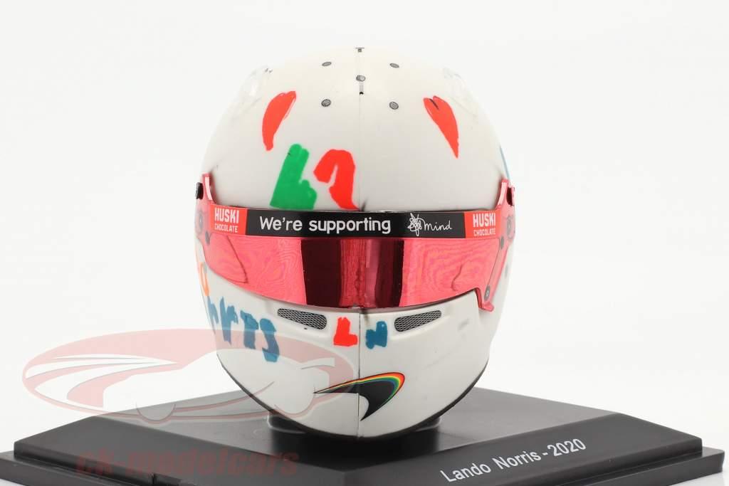 Lando Norris McLaren F1 Team #4 5 ª britânico GP Fórmula 1 2020 capacete 1:5 Spark