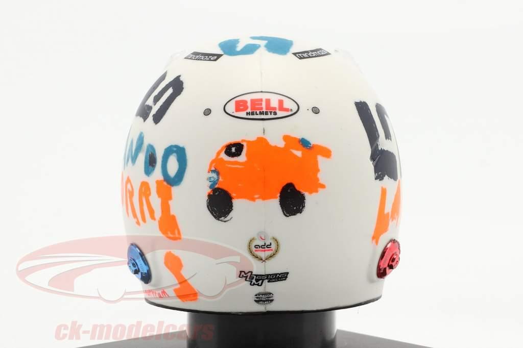 Lando Norris McLaren F1 Team #4 5 ° Britannico GP formula 1 2020 casco 1:5 Spark