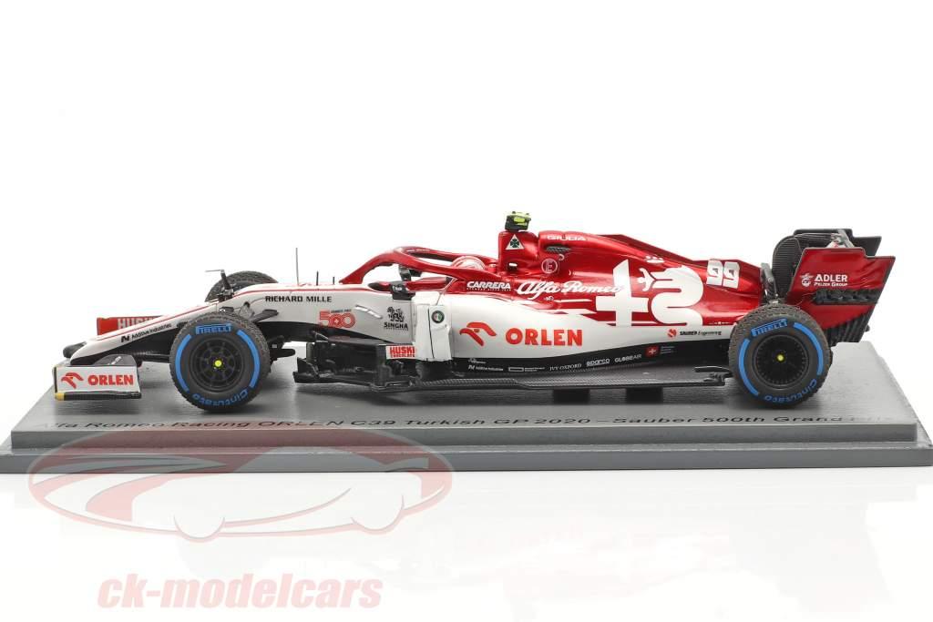 Antonio Giovinazzi Alfa Romeo Racing C39 #99 tyrkisk GP formel 1 2020 1:43 Spark