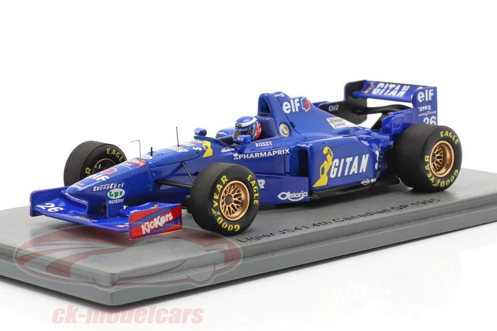 Olivier Panis Ligier JS41 #26 4. plads Canadisk GP formel 1 1995 1:43 Spark