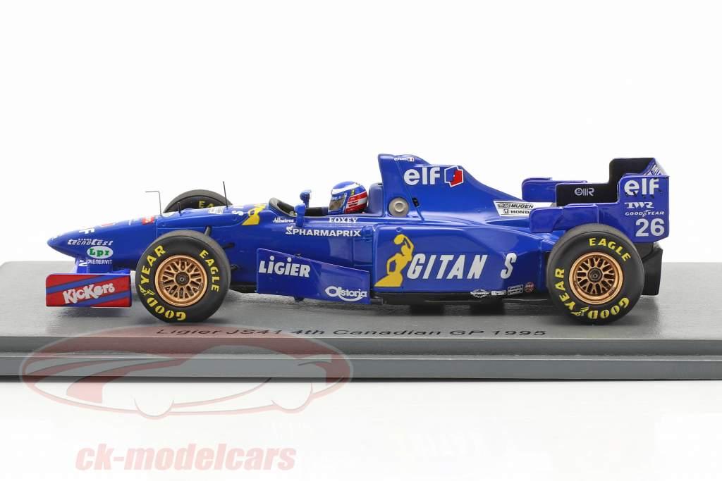 Olivier Panis Ligier JS41 #26 4th Kanada GP Formel 1 1995 1:43 Spark