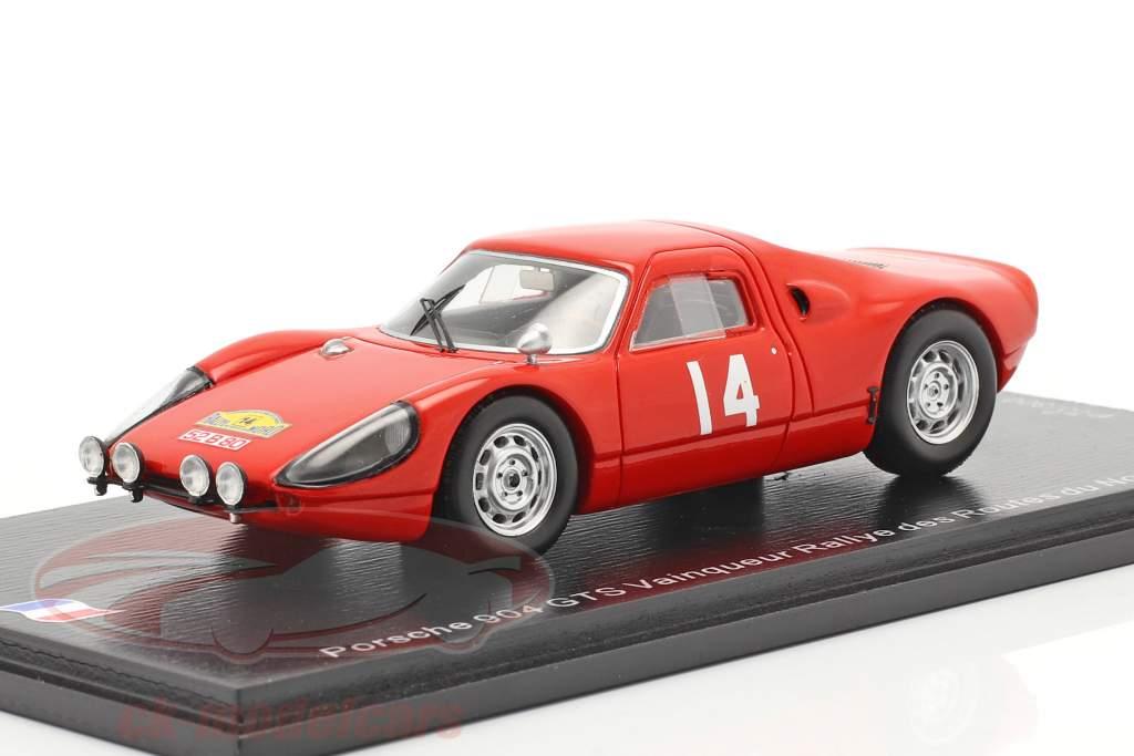 Porsche 904 Carrera GTS #14 Vincitore Rallye des Routes du Nord 1965 1:43 Spark