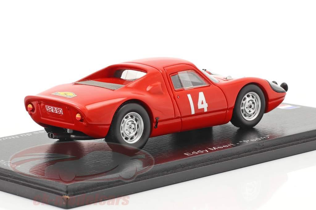 Porsche 904 Carrera GTS #14 Ganador Rallye des Routes du Nord 1965 1:43 Spark