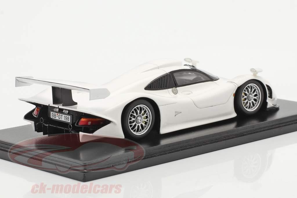 Porsche 911 GT1 Street Version 1998 white 1:43 Spark