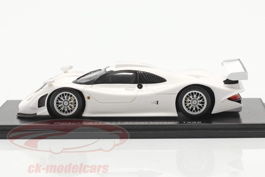Porsche 911 GT1 Street Version 1998 hvid 1:43 Spark