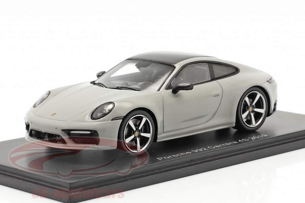 Porsche 911 (992) Carrera 4S Baujahr 2019 kreidegrau 1:43 Spark