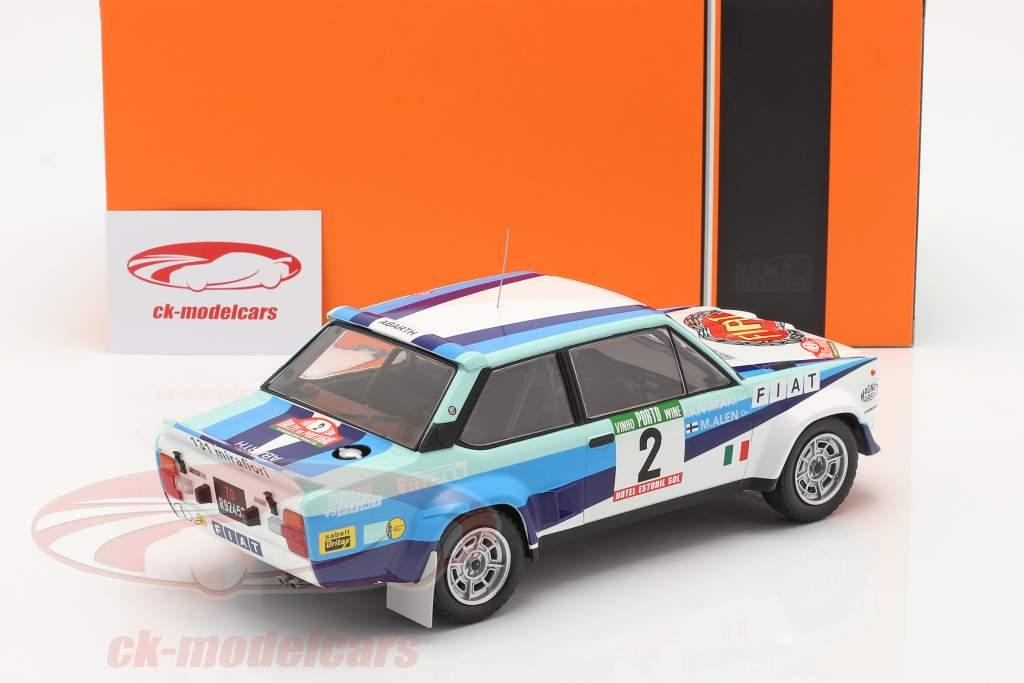 Fiat 131 Abarth #2 2. plads Rallye Portugal 1980 Alen, Kivimaki 1:18 Ixo