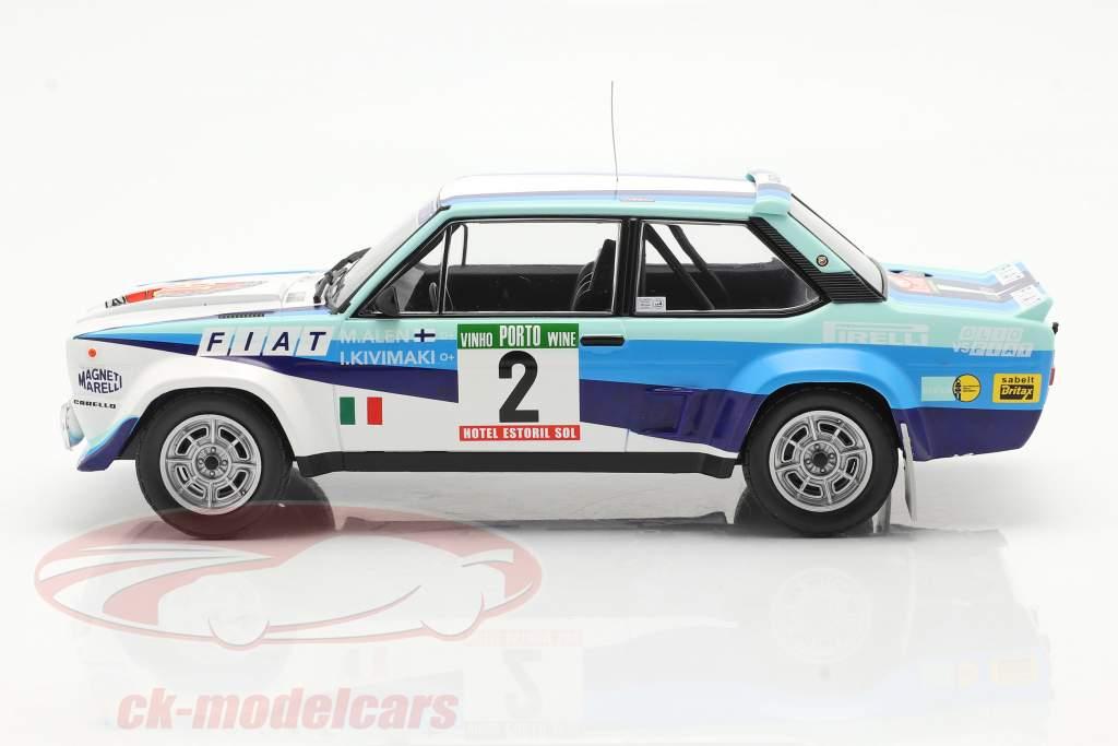 Fiat 131 Abarth #2 2 ° Rallye Portogallo 1980 Alen, Kivimaki 1:18 Ixo